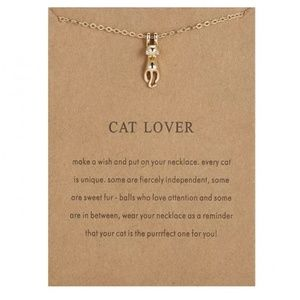 Cat Lover Girls Pendant Necklace